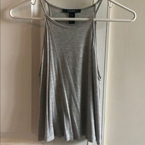 Loose light grey crop top size small